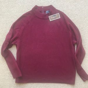 KAREN SCOTT MAROON MOCK TURTLENECK SWEATER NEW MP